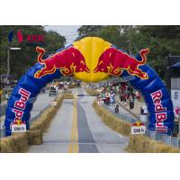 Quality 25Kg Large Inflatable Entrance Arch Commercial Red Bull For Marathon Race wholesale