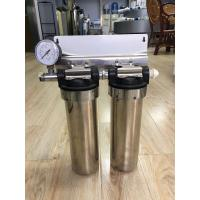 "Quality Two Stage Under Sink 10"" Stainless Steel Water Filter Water Purifier With Pressure Gauge wholesale"