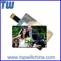 China Hotsale Credit Card 64GB Usb Thumb Drive with Digital Printing for Company Gifts on sale