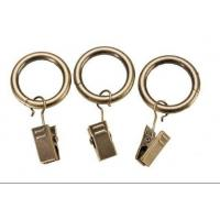 Quality Iron curtain pole rings with clips wholesale