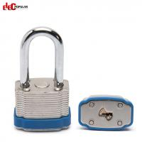 Quality 38mm Laminated Steel Shackle Safety Padlocks EP-8562 Metal Body Padlock wholesale