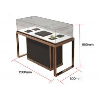 Quality Brown + Mirror Rose Gold Jewelry Display Cases , Diamond Jewelers wholesale