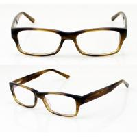 Cheap Hand Made Black / Brown Cool Acetate Mens Eyeglasses Frames For Promotion for sale