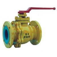 Quality Industrial Lined Ball Valve With Once-Through Floating Structure Q41F-10C-65 wholesale