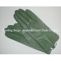 China Light green Warm  Style Lined Womens Lined Leather Gloves on sale