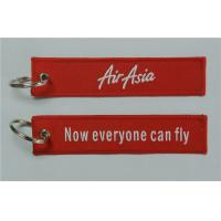 Buy cheap Air Asia Airasia Now Everyone Can Fly Aviation Motorcycle Keychain Red Edge from wholesalers