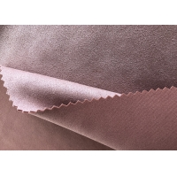 China 58'' Stretch Weft Knitted Micro Suede Polyester Fabric on sale