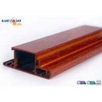 Quality Wood Grain Surface AA6063 T5 Aluminium Extrusions Profiles For Door / Windows wholesale