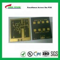 Quality 3 Layer TLY-9+HT1.5 SOFT GOLD Smt PCB Assembly Service with Black Solder wholesale