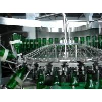 China PLC Based Monoblock Glass Bottle Filling Machine For Soda water / Soft Drink on sale