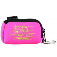 Quality Pink or Custom Waterproof zipper Small Cosmetic Neoprene Pouches Bags 9(L)cm X 6(W) cm wholesale