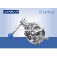 China 3 INCH 1.4404 Sanitary Ball Valve manual butterfly type with pull handle on sale