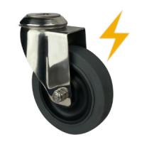 Quality stainless steel antistatic casters with bolt hole wholesale