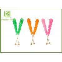 Quality Fashion Rock Candy Swizzle Sticks , Bamboo Lollipop Sticks Bulk Placking wholesale