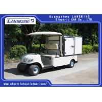 Quality 2 Person White Mini Electric Cargo Truck With Stainless Steel Cargo Box 650kg 48v 3kw DC Motor wholesale