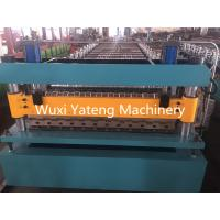 Quality PPGI Roofing Corrugated Sheet Roll Forming Machine 18 - 26Stations 235Mpa Yield Strength wholesale