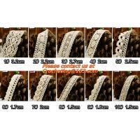 China Cotton Crochet Lace Ribbon wholesale Lace Trim for cushion, sofa, curtain, DIY jewelry on sale