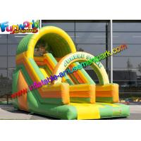China Kids Commercial Inflatable Slide , Jungle Tree Inflatable Cartoon Dry Slides on sale