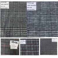 Quality Plaid Design Prince of Wales Stretch Rayon Polyester Fabrics wholesale