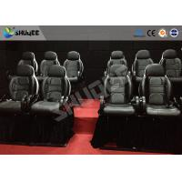 Quality Thrilling 5D Movie Theater Motion Cienma Luxury Black Movement Chairs wholesale