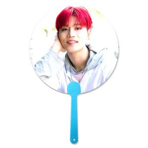 Quality KPOP 0.6mm PET 3D Hand Fan Lenticular 3D Moving Fan BTS EXO Custom Hand fan of Super Stars wholesale