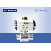 China Horizontal straight way Pnuematic  ball valve with thread Connection on sale