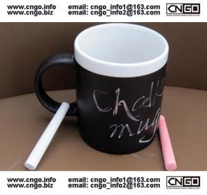 Quality Glazed/Porcelain fashion Chalk Mug wholesale11oz Ceramic Chalk Mugs popular chalk mug wholesale