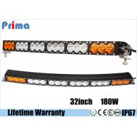 Quality Multi Color 180W 32 Inch Curved LED Light Bar Amber White IP67 Waterproof wholesale
