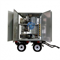 China Trailer Type Double Stage Vacuum Transformer Oil Purifier Machine on sale