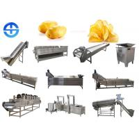 China Fried Potato Chips Production Line Safe Operation With Stainless Steel Material on sale