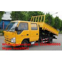 Quality HOT SALE best price ISUZU 4*2 LHD double cabs 3tons dump tipper truck, good price ISUZU 120hp diesel dump truck for sale wholesale
