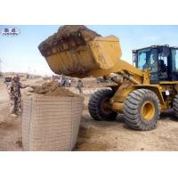 Quality Military Geotextile Sand Filled Barriers , Hot Dipped Galvanized Hesco Type Barriers wholesale