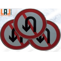 Instructions Round Shaped Reflective Traffic Signs With HIP Grade Film for sale