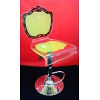 Quality High Grade Crystal Acrylic Bar Chair With Rolling Base For Gift , Colorful wholesale