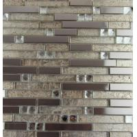 Quality Mix Colored Metallic Subway Tile Backsplash , Interlocking Metallic Kitchen Tiles wholesale