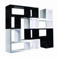 Quality Bookcase with white and black high-glossy painting wholesale