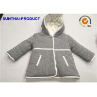 Quality 2 Layers Baby Kids Hooded Jacket Long Sleeve Micro fleece Inside For Lining wholesale