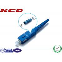 Quality Plastic OpticalSC UPC Fiber Connector 0.2dB Low Insertion Loss ISO9001 wholesale