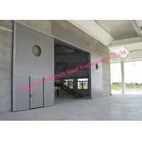 Quality Large Openings Vertical Sliding Industrial Garage Doors Motorised Heavy Sliding Doors With Steel Track wholesale