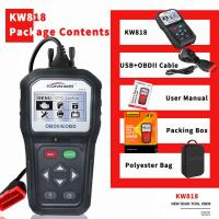 China Customizable Konnwei Car Diagnostic Scanner KW818 16 Pin 2.8 Inches Screen For Motorcycle on sale