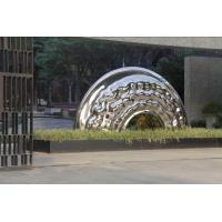 Quality Stainless Steel Large Outdoor Sculpture , Mirror Polished Outdoor Modern Art Statue wholesale