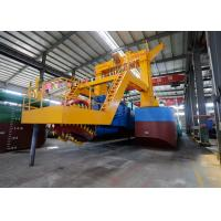 China Marine Dual Pump Dredger 32 Inch Alloy Cast Iron Material Abrasion Resistant on sale