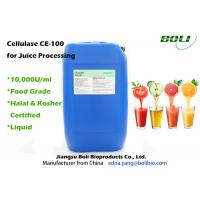 Quality Superior Stability Bacterial Cellulase , Food Grade Amber Liquid Trichoderma Reesei Cellulase wholesale