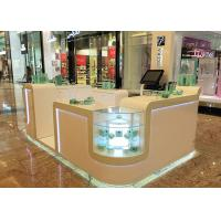 Cheap White Cosmetic Display Case Modern Style Small Space For Shopping Mall Display for sale