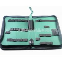 Quality Home Small Soft Canvas Tool Bag With14 Elastic Bands 32*21*5.5 Cm wholesale