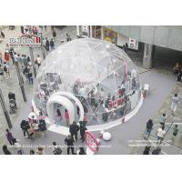 Quality dia 6m Steel Geodesic Dome Tent With Interior Decoration For Outdoor Hotel wholesale