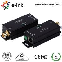 China Mini 1 Channel IP Ethernet Over Coax Cable Extender Converter RJ45 / BNC Connector on sale