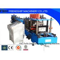 Quality 15KW Carbon Steel C Z Purlin Roll Forming Equipment With Hydraulic Decoiler wholesale