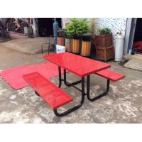China 4 People Outdoor Dining Table And Chair , Multifunctional Canteen Table And Chair on sale