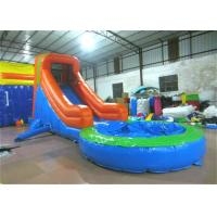 China Single slide inflatable water slide small inflatable water slide with pool for kids on sale